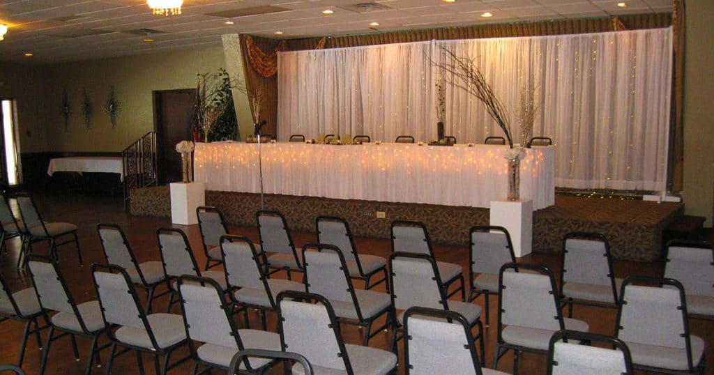 Katie Blum and Brad Jones Wedding Reception seating on January 19, 2019.