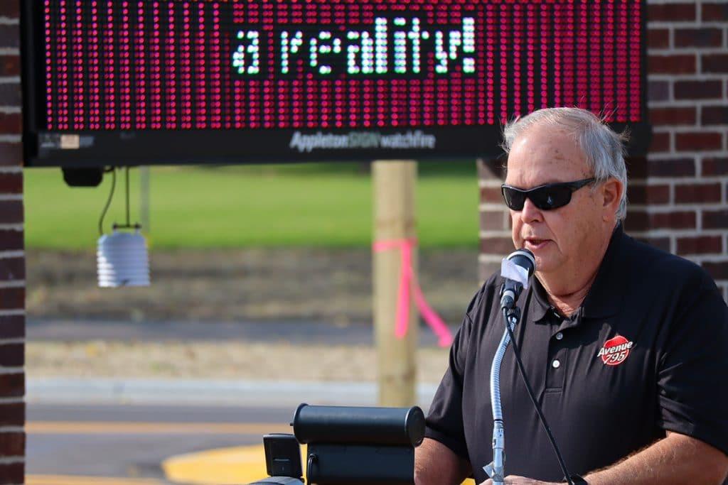 Thomas Schmitz dedication speech at Avenue 795 on 10/09/20.